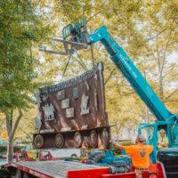 NMIH relocates Steelworkers Veterans Memorial to new home in museum's outdoor park
